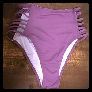 PINK high waisted swim bottom